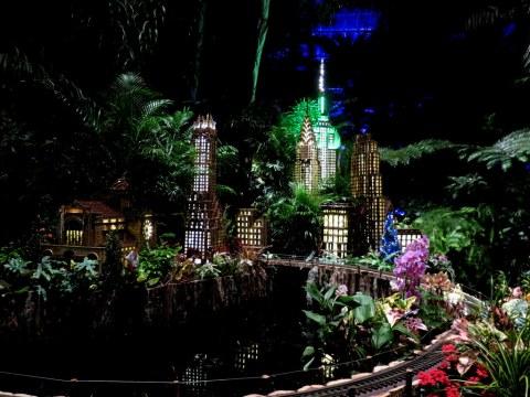 Bar Car Nights, Mid-town Manhattan exhibit, Bar Car Nights, NYBG Holiday Train Show