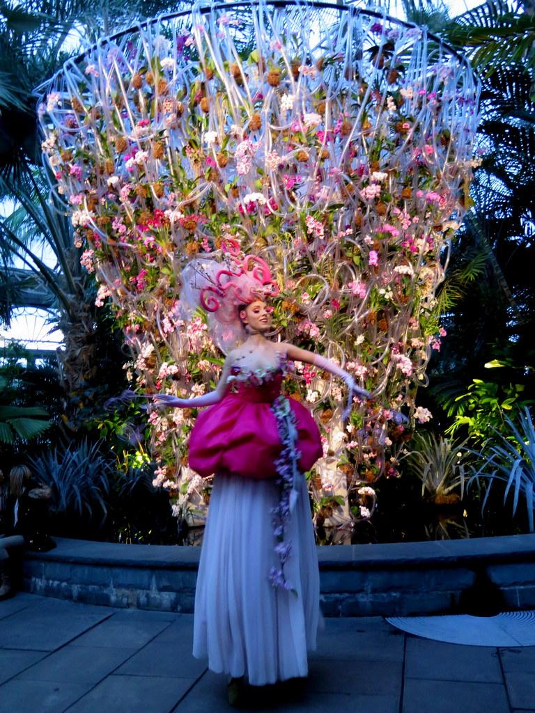 Daniël Ost, orchid dancer, 2018 NYBG Orchid Show, orhid evenings, Belgian floral artist