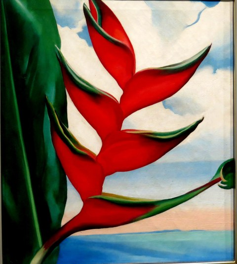 Heliconia, Crab's Claw Ginger, 1939, oil on canvas, Sharon Twigg-Smith Collection, Georgia O'Keeffe, NYBG Exhibit, Georgia O'Keeffe Visions of Hawai'i