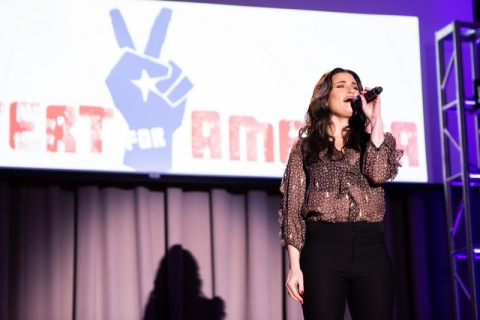 Idina Menzel, Concert for America, Great Hall Cooper Union