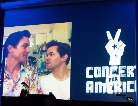 Matt Bomer, Andrew Rannells, Concert for America