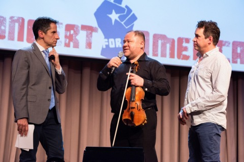 Seth Rudetsky, Jorge Avila, James Weslley, Concert for America, The Great Hall, Cooper Union