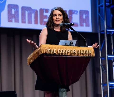 Tina Fey, Concert for America, Great Hall, Cooper Union