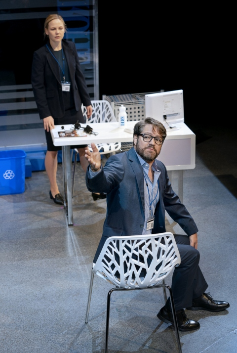 Robert Petkoff, Adelaide Clemens, The Hard Problem, Tom Stoppard, Lincoln Center Theater, Mitzi E. Newhouse, Jack O'Brien