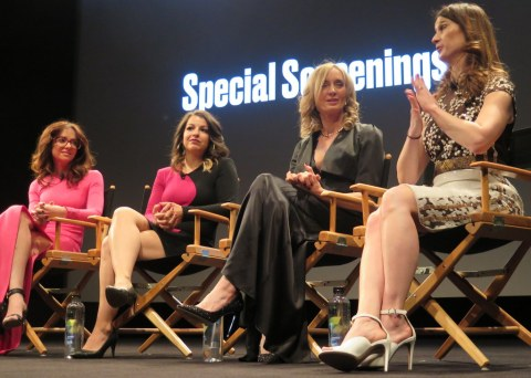 Carrie Goldberg, Anita Sarkeesian, Tina Reione, Cynthia Lowen, Netizens, Tribeca FF premiere, and Q and A