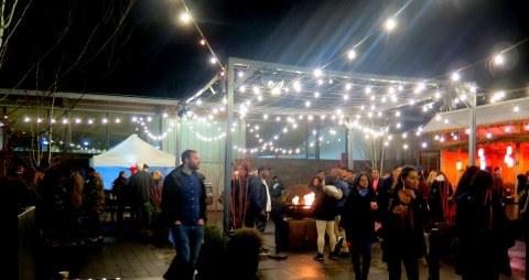 Bar Car Nights, NYBG Holiday Train Show 2018, food booths at NYBG