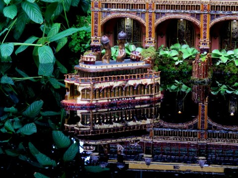 Lower Manhattan, Applied Imagination, ferry detail, NYBG Holiday Train Show 2018