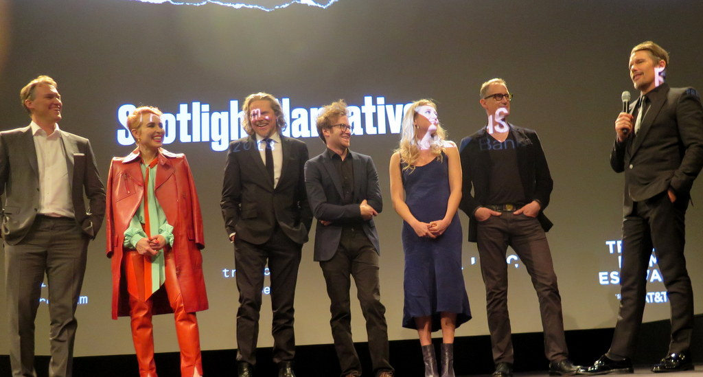 Robert Budreau, Ethan Hawke, Noomi Rapace, 2018 Tribeca FF World Premiere Spotlight Narrative screening Q & A