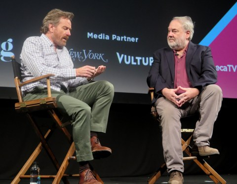 Bryan Cranston, David Edelstein, Tribeca Talks, Tribeca TV Festival 2018