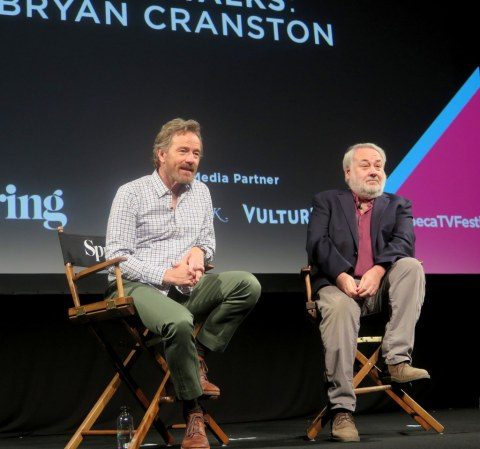 David Edelstein, Bryan Cranston, Tribeca TV Festival 2018
