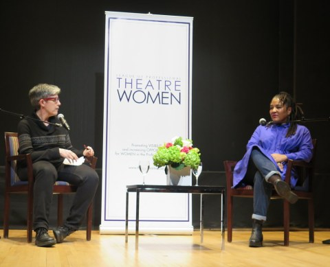 Elisabeth Vincentelli, Lynn Nottage, NYPL for the Performing Arts, LPTW, Bruno Walter Auditorium at Lincoln Center