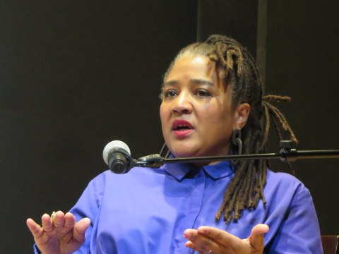 Lynn Nottage, Elisabeth Vincentelli, LPTW, NYPL fother  Performing Arts, Bruno Walter Auditorium