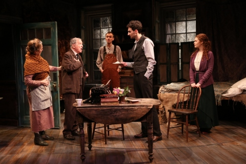 Ciarán O'Reilly, Una Clancy, Robert Langdon Lloyd, Ed Malone, James Russell, Meg Hennessy, Irish Repertory Theatre, The Shadow of a Gunman, Ciaran O'Reilly, Sean O'Casey