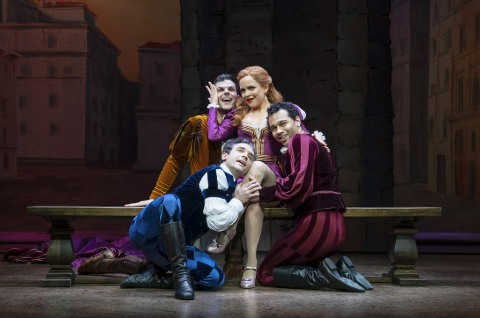 Rick Faugno, Will Burton, Stephanie Styles, Corbin Bleu in 'Kiss Me Kate,' 2019 Roundabout Revival, Scott Ellis