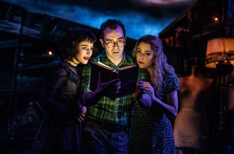 Sophia Anne Caruso, Rob McClure, Kerry Butler, Beetlejuice, Eddie Perfect,Scott Brown, Anthony King Alex Timbers