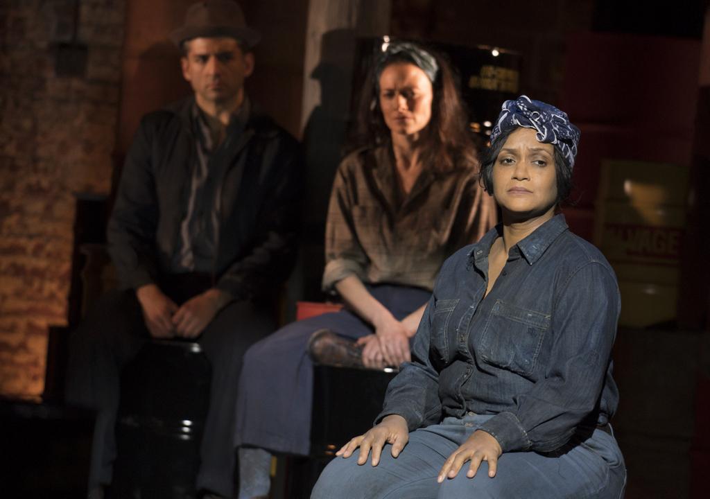 Tony Yazbeck, Lara Pulver, Rema Webb in 'The Cradle Will Rock,' John Doyle, CSC