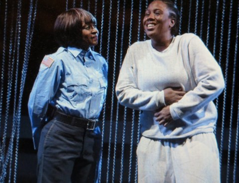 Ebony Marshall-Oliver, Crystal Lucas-Perry in 'Ain't No Mo,' Jordan E. Cooper, Stevie Walker-Webb, Public Theater