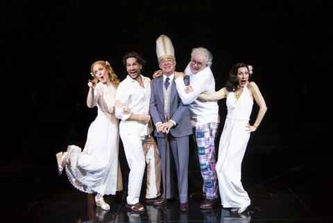 Clea Alsip, Will Swenson, German Jaramillo, John Larroquette, Tina Benko, 'Nantucket Sleigh Ride,' Jerry Zaks, John Guare, Mitzi E. Newhouse, Lincoln Center Theater