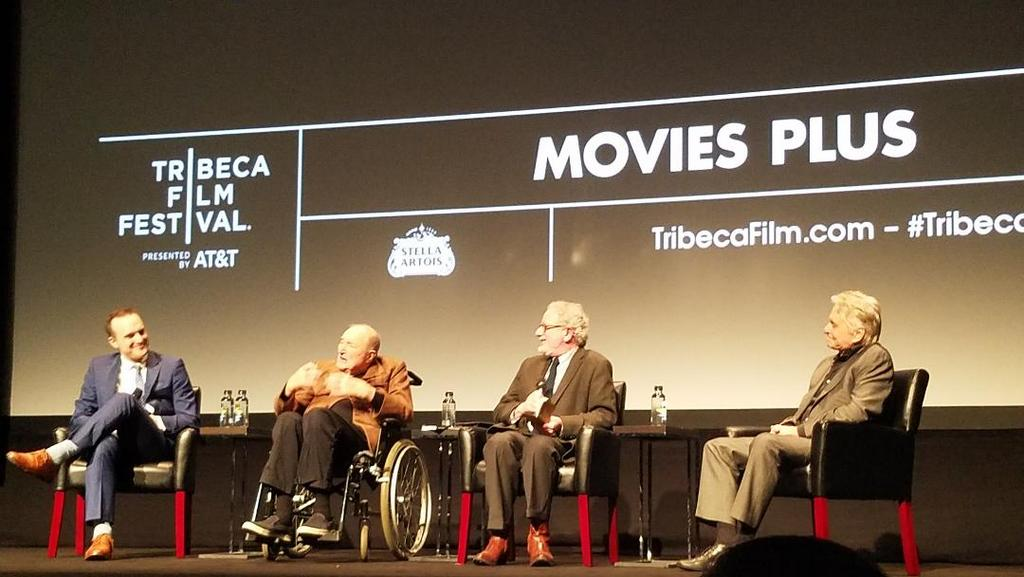 Billy Lyons, Wynn Handman, Jeremy Gerard, Michael Douglas, Tribeca Film Festival World Premiere, It Takes a Lunatic