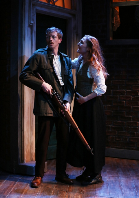 Adam Petherbridge, Clare O'Malley, Irish REpertory Theatre, The Plough and the Stars, Sean O'Casey