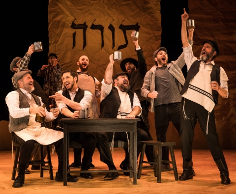 Bruce Sabath, Kirk Geritano, Lauren Jeanne Thomas, Michael Einav, Mikhl Yashinsky, Adam B. Shapiro, Bobby Underwood, DRew Seigla, Steven Skybell, Fiddler on the Roof in Yiddish, Joel Grey