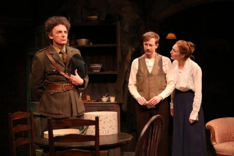 John Keating, Adam Petherbridge, Clare O'Malley, Irish Repertory Theatre, The Plough and the Stars, Sean O'Casey