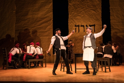 Steven Skybell, Bruce Sabath, Company, Fiddler of the Roof in Yiddish, Joel Grey
