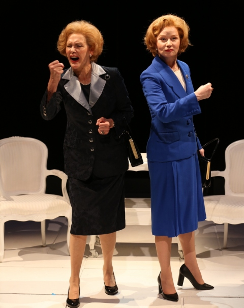 Susan Lynskey, Kate Fahy, Handbagged, Brits Off Broadway, 59e59 Theaters