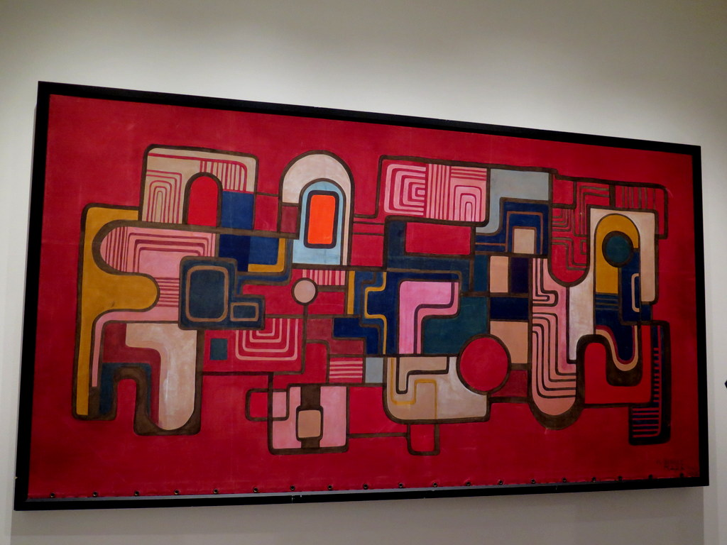 """Untitled (1968) Acrylic and industrial dye and fabric,'Brazilian Modern"""" The Living Art of Roberto Burle Marx,' NYBG Installation (June 8-September 29)"""