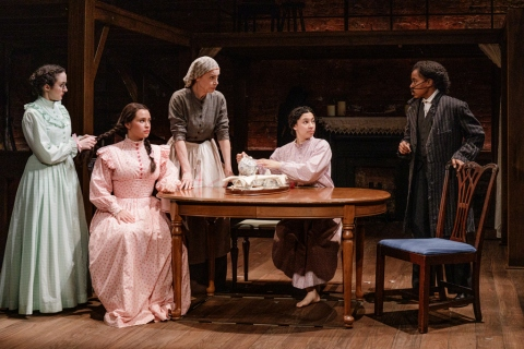 Kate Hamill, Carmen Zilles, Ellen Harvey, Paola Sanchez Abreu, Kristolyn Lloyd, Primary Stages, Little Women, Louisa May Alcott