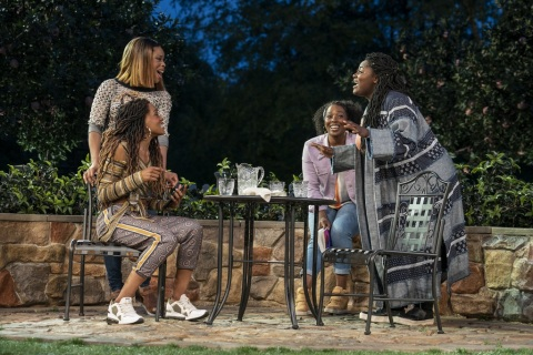 (L to R): Tiffany Denise Hobbs,Danielle Brooks (R)Kenny Leon, Much Ado About Nothing, Kenny Leon, Shakespeare in the Park, Public Theater, Delacorte Theater