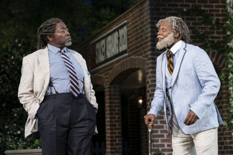 Chuck Cooper, Erik Laray Harvey, Shakespeare in the Park, Much Ado About Nothing, William Shakespeare, Kenny Leon, Delacorte Theater