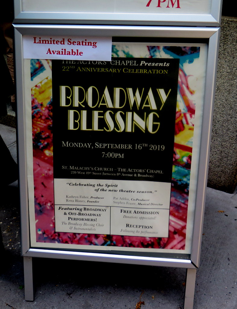 Broadway Blessing 2019, Actor's Chapel, St. Malachy's, Chita Rivera