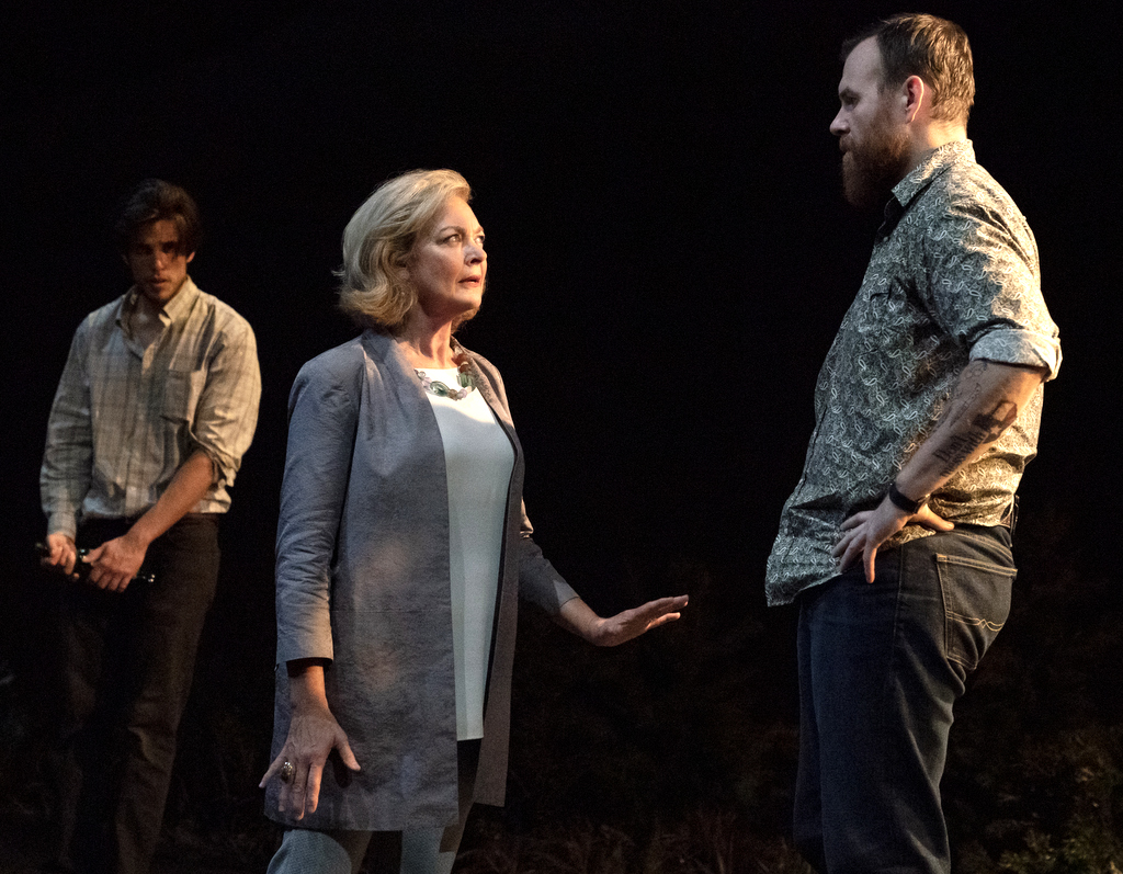 John Zdrojeski, Michele Pawk, Jeb Kreager, in Heroes of the Fourth Turning, Will Arbery, Danya Taymor, Playwrights Horizons