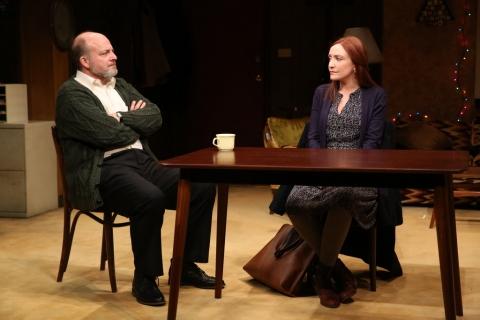 Jeffrey Bean, Sarah Street, Dublin Carol, Conor McPherson, Irish Repertory Theatre, Ciarán O'Reilly