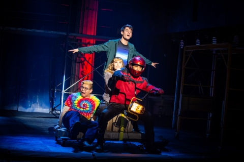 Jorrel Javier, Chris McCarrell,Kristin Stokes, James Hayden Rodriguez, The Lightning Thief-The Percy Jackson Musical,Joe Tracz, Rob Rokicki, Rick Riordan, Longacre Theatre, Stephen Brackett