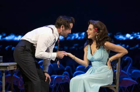 Marisa Tomei, Emun Elliott,Marisa Tomei, Emun Elliott, The Rose Tattoo, Tennessee Williams, Roundabout Theatre Company The Rose Tattoo, Tennessee Williams, Roundabout Theatre Company, Trip Cullman, American Airlines Theatre