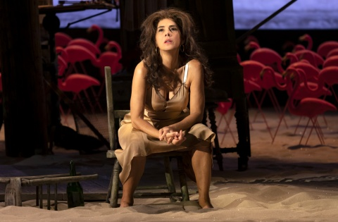 Marisa Tomei, Emun Elliott, The Rose Tattoo, Tennessee Williams, Roundabout Theatre Company, Trip Cullman, American Airlines Theatre