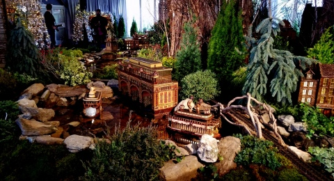 28th Holiday Train Show, NYBG, Applied Imagination