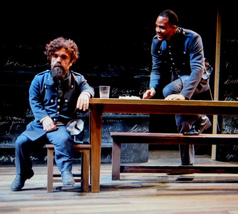 Peter Dinklage, Josh A. Dawson, Cyrano, The New Group, Daryl Roth Theatre