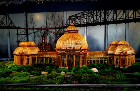 Enid A. Haupt Conservatory, 28th NYBG Holiday Train Show, Applied Imagination