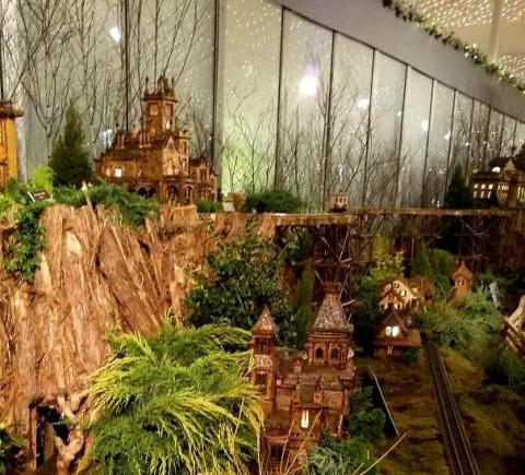28th NYBG Holiday Train Show, Bar Car Nights, Applied Imagination