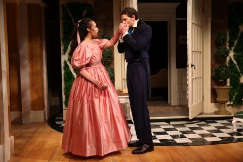 Carolines trang, Ian Holcomb,London Assurance, Charlotte Moore, Irish Repertory Theatre Dion Boucicault