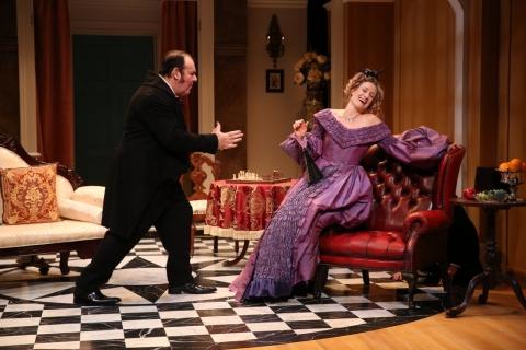 cOlin MPhillamy, Rachel Pickup, ,London Assurance, Charlotte Moore, Irish Repertory Theatre Dion Boucicault