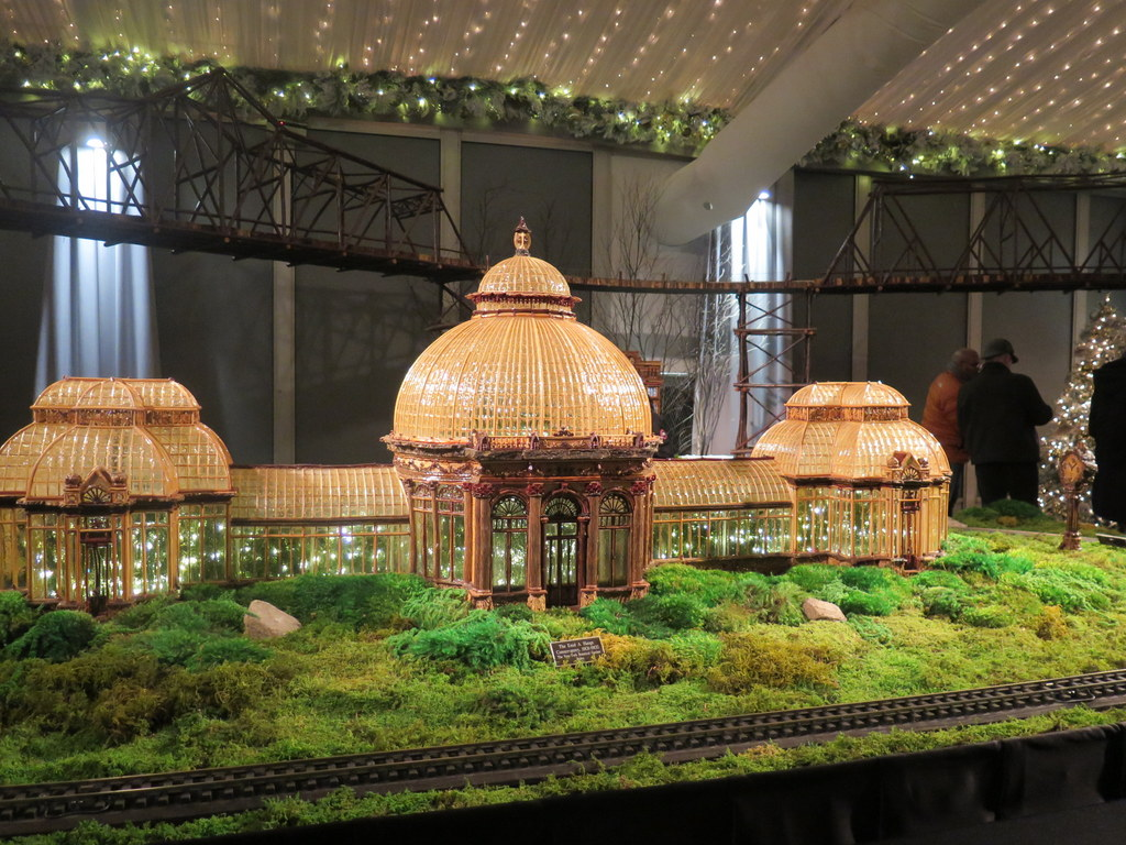 Enid A. Haupt Conservatory, 28th NYBG Holiday Train Show, Bar Car Nights, Applied Imagination