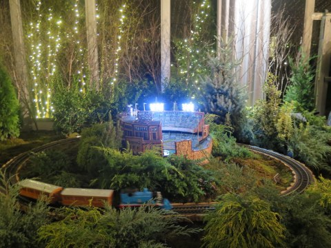 Yankee Stadium replica, NYBG 28th Holiday Train Show, Thomas The Tank, Applied Imagination