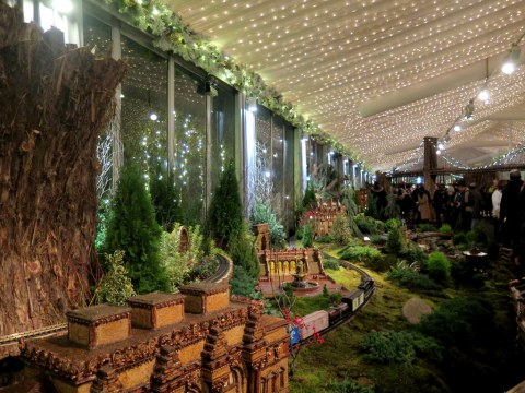 NYBG 28th Holiday Train Show, Bar Car Nights, Applied Imagination