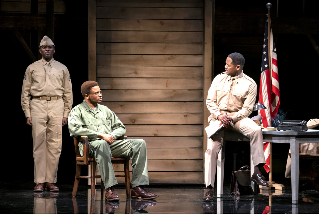 Warner Miller, Nnamdi Asomugha, Blair Underwood, A Soldier's Play, Charles Fuller, Kenny Leon, Roundabout Theatre Company