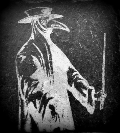 Edinburgh circa 1650, pic of The Plague Doctor