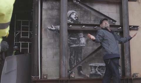 Seasons Greetings, Port Talbot, Wales, Banksy, John Brandler, Banksy Most Wanted